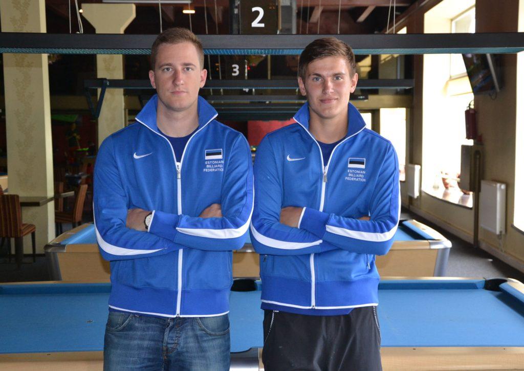 Piljardi paarimängu MM 2018 - Denis Grabe ja Mark Mägi (Eesti meeskond)
